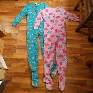 2 girls footie pajamas